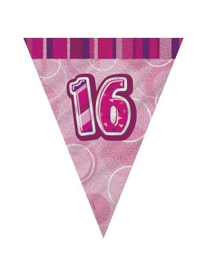 Unique Party Pink Pennant Bunting - 16