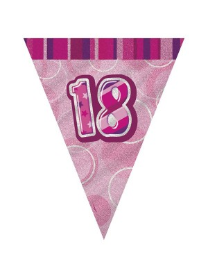 Unique Party Pink Pennant Bunting - 18