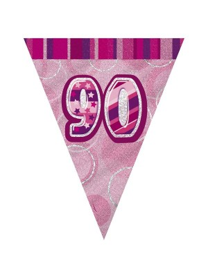 Unique Party Pink Pennant Bunting - 90