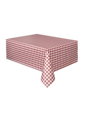 Unique Party Tablecover - Red Gingham