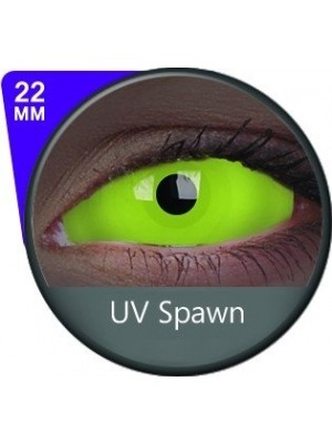 ColourVUE UV Spawn Green Sclera Full Eye Contact Lenses 22mm (6 Month)