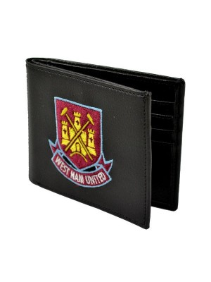 West Ham Crest Embroidered PU Leather Wallet