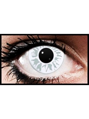 White Fleck Crazy Coloured Contact Lenses (90 Day Lenses)