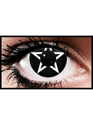 White Pentagram Crazy Coloured Contact Lenses (90 days)