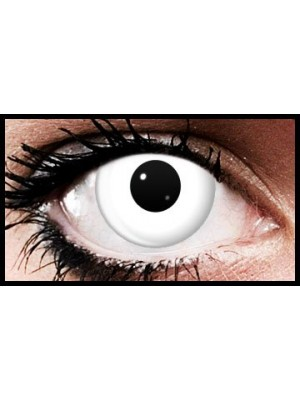 White Halloween Coloured Contact Lenses (90 Days)
