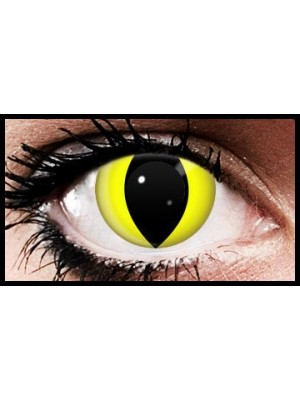 Yellow Cat Crazy Coloured Contact Lenses (90 Days)