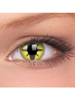Yellow Flower Crazy Colour Contact Lenses (1 Year Wear)