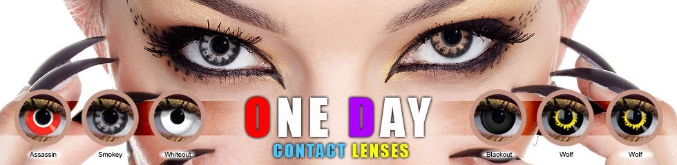 one day contact lenses. Perfect for one day usage or for parties and events, etc.